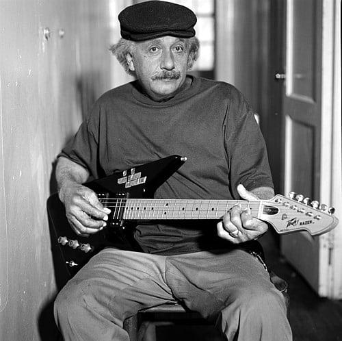 Einstein a la guitarra