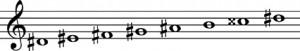escala-armonica-re-sostenido-menor