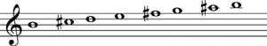 escala-armonica-si-menor