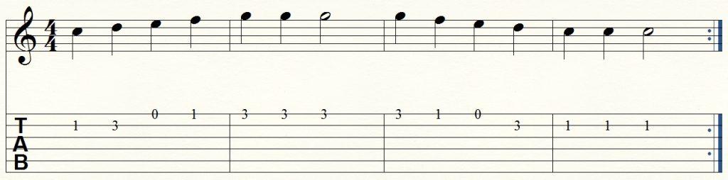 ejercicio de guitarra para principiantes 1