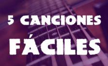 5 canciones faciles para guitarra portada