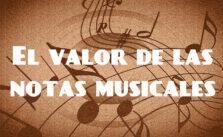 el valor de las notas musicales portada