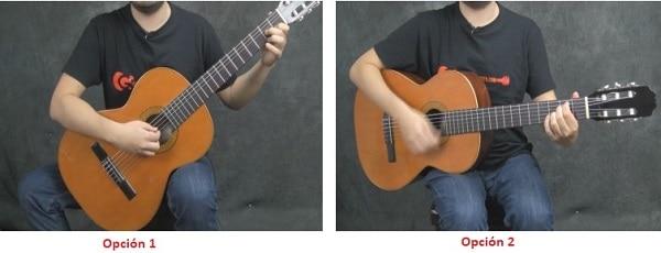 aprender a tocar la guitarra postura correcta