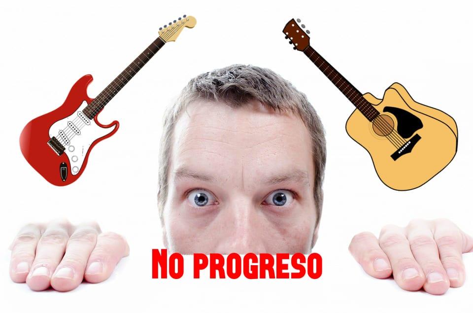 no progreso en la guitarra portada