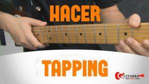 tapping en la guitarra portada