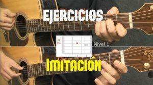 ejercicios de imitación en guitarra