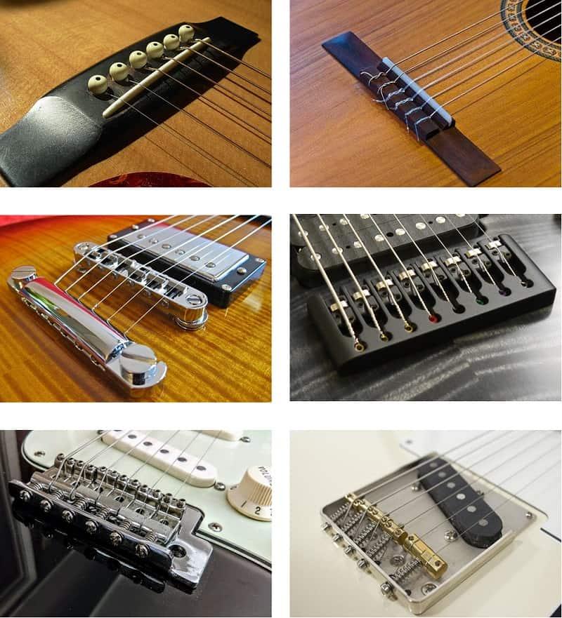 El puente es una de las partes de la guitarra más importantes