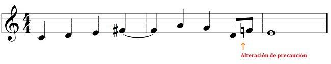 las alteraciones musicales: alteraciones de precaución