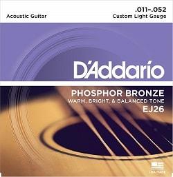 cuerdas para guitarra marca D'Addario