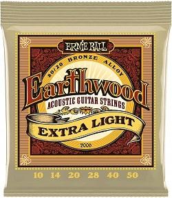 cuerdas para guitarra marca Earthwood Ernie Ball